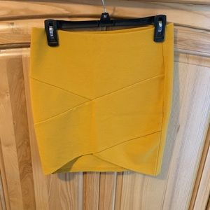 Skirt Forever 21 Yellow/Gold